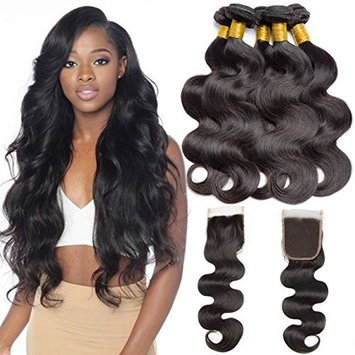 VIPbeauty Body Wave Bundle 100% Human Hair Extensions Bundles Body Wave One Bundle 100g Natural Black 1#B(10 Inch)