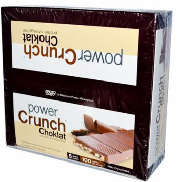 BNRG, Power Crunch, Protein Energy Bar, Choklat, Milk Chocolate, 12 Bars, 1.5 oz (42 g) Each(pack of 3)