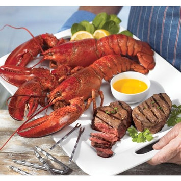 Lobster Gram STGR2C SURF & TURF GRAM DINNER FOR TWO WITH 1 LB LOBSTERS