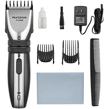 Flyco Pro Cordless Rechargeable Head trimmer 10 length settings with hair clipping combs for Men Kids Baby
