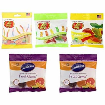 Jelly Grab and Go Bags in Gummi Shapes and Flavors by Jelly Belly - 5 bags