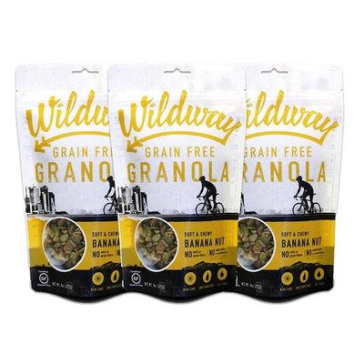 Wildway Banana Nut Grain-free Granola, 8oz - 3 Pack (Certified gluten-free, Paleo, Vegan, Non-GMO)