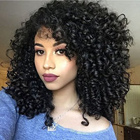 Black Synthetic Afro Curly Hair Wigs Short Kinky Hair Heat Resistance Fiber Wig for Black Women