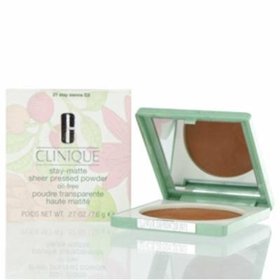 CLINIQUE STAY-MATTE SHEER PRESSED POWDER 21 STAY SIENNA .27 OZ