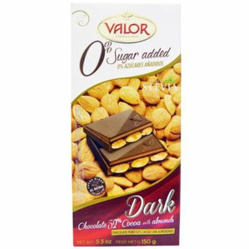 Valor, Dark Chocolate, 52% Cocoa with Almonds, 5.3 oz(pack of 1)