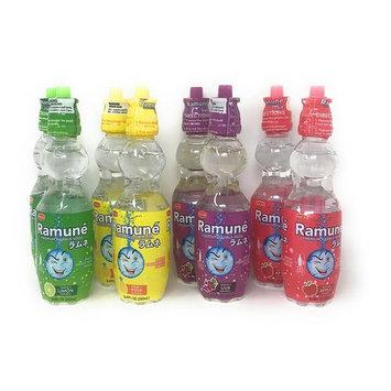 Ramune Japanese Marble Style Soda (Four Flavor Bundle, 8 Bottles)