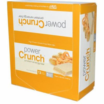 BNRG, Power Crunch Protein Energy Bar, Peanut Butter Creme, 12 Bars, 1.4 oz (40 g) Each(pack of 6)