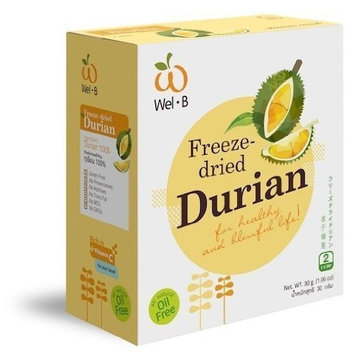 Wel-b Freeze Dried Durian Freeze Dried Fruit 100% Natural Healthy Freeze Dried Food Snack Food Healthy Snack 1.06 0z..