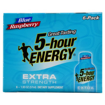 5-hour Energy Extra Strength Blue Raspberry Energy Drink, 1.93 oz, 6 pack