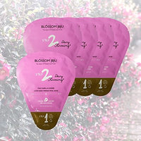 BLOSSOME JEJU Camellia Soombi 2-Step Dewy Firming Petal Facial Mask Sheets x 5 Sachets 137g/4.8 oz | Dewy Firming | Ultra Thin Silky Fiber Sheet from Cotton Pad