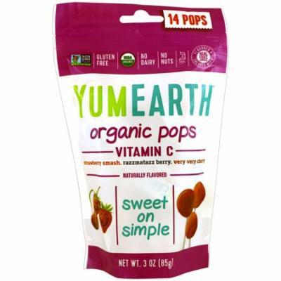 YumEarth, Organic, Vitamin C Pops, 14 Pops, 3 oz (85 g) Each(pack of 3)