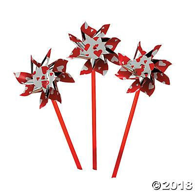 Valentine Pinwheels (Pack of 12)
