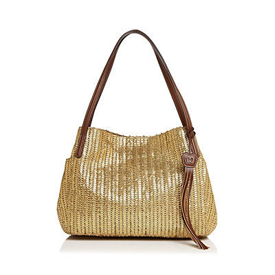 Eric Javits Women's Fashion Designer Aura Handbag in Caper