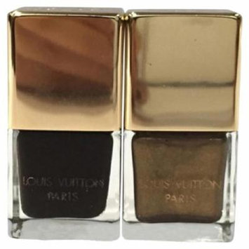 Brown / Gold Damier Ebene Nail Polish 1m01