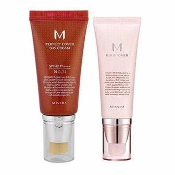 Missha M Perfect Cover BB Cream # No. 31 Golden Beige 50ml + M BB Boomer 40ml set