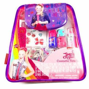 JoJo Siwa Girls Cosmetic Tote Bag Set Nail Polish Lip Gloss Body Tattoos