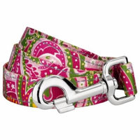 Country Brook Petz   5/8 Inch Pink Paisley Reflective Dog Leash - 6 Foot