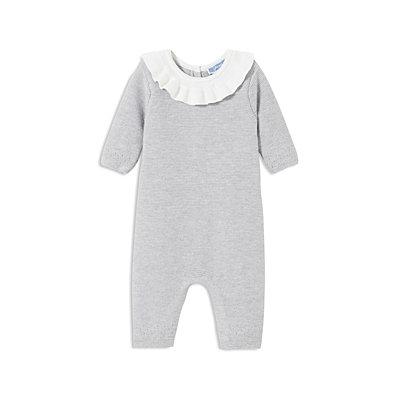 Jacadi Girls' Ruffle-Collar Coverall - Baby