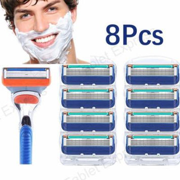 8pcs Shaver blade for Gillette Fusion Razor Blades Cartridges Men's Care 5-layer