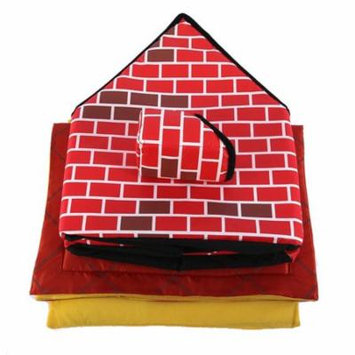Portable Brick Pet House With Chimney Warm And Cozy Dog Cat Bed Pet Tent