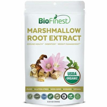 Biofinest Marshmallow Root Extract Powder - USDA Certified Organic Gluten-Free Non-GMO Kosher Vegan Friendly - Supplement for Immune Health, Digestion, Weight Management (100g)
