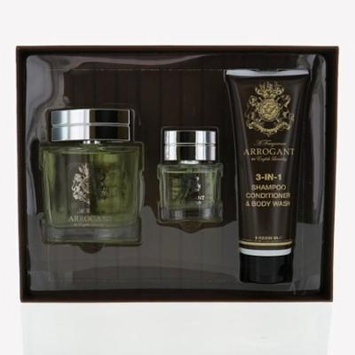 ARROGANT MEN 3 PIECE GIFT SET - 3.4 OZ EAU DE TOILETTE SPRAY by ENGLISH LAUNDRY