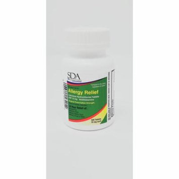 Allergy Relief Cetirizine HCL 10mg 500ct by SDA LABS
