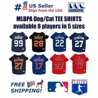 Pets First MLBPA Buster Posey Cat and Dog Tee Shirt - Licensed with overlock stitching