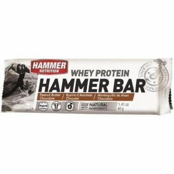 Hammer Nutrition Whey Protein Bar Flavor Peanut Butter-Chocolate 12 count Bar -