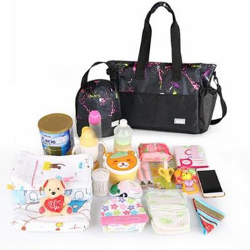 Perfect Mom Choice Stylish Gifts for Her Unique Colorful Print Portable Pregnant Mother Bag Outdoor Baby Diaper Bags Set
