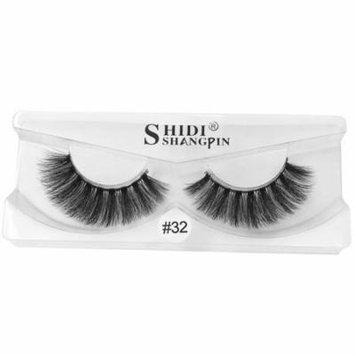 Mosunx 3D Natural Fluffy Soft Mink Glue Adhesive Long Fake Eyelashes Pack Reusable