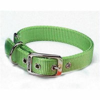 Double Thick Nylon Dog Collar- Lime 1 X 26 - DD 26LI
