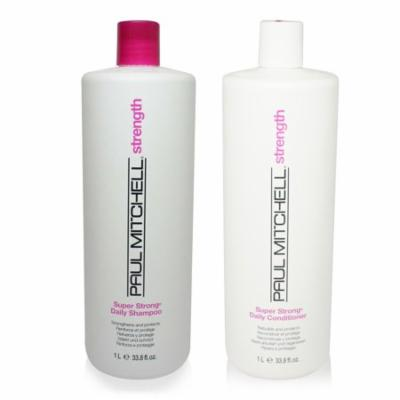 Paul Mitchell Super Strong Daily Shampoo & Conditioner 33.8 Oz Combo Pack