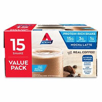 Atkins Gluten Free Protein-Rich Shake, Mocha Latte, 15 Count
