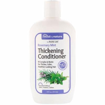 Mild By Nature Thickening B-Complex Biotin Conditioner by Madre Labs No Sulfates Rosemary Mint 14 fl oz 414 ml