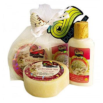 Hawaii Bubble Shack Loofah Soap & Body Lotion Duo Gift Set Pikake Lei