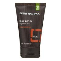 Every Man Jack Skin Clearing Face Scrub, Fragrance Free, 4.2 Oz