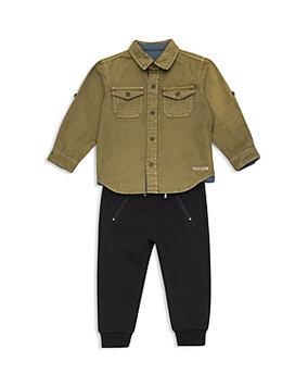Hudson Boys' Button-Down Shirt & Joggers Set - Baby
