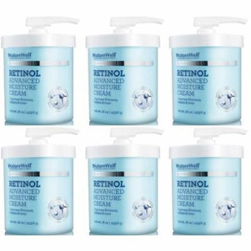 NatureWell Clinical Retinol Advanced Moisture Cream, Large, 96 oz (6 Tubs/16 OZ)