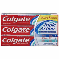 Colgate Triple Action Toothpaste, Mint - 8.0 Ounce (3 Pack)