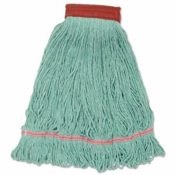 Cotton Mop Heads, Cotton, Synthetic, Large, Looped End, Wideband, Blue