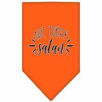 Not Today Satan Screen Print Bandana Orange Large