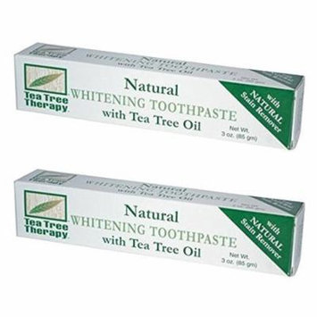 Tea Tree Therapy Natural Whitening Toothpaste, 3 Ounce 2-Pack