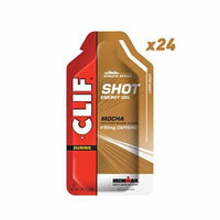 CLIF SHOT - Energy Gel - Mocha Flavor - With Caffeine (1.2 Ounce Packet, 24 Count)
