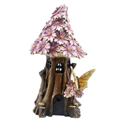 Bella Products BGP706250 Bella Pink Fairy Garden House with Solar Light
