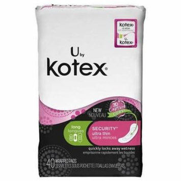 U by Kotex Security Ultra Thin Pads, Long without Wings (40 count) (Pack of 6)