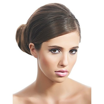 Mia Bend-a-Bun-Soft Flannel Bun Styling Tool With A Hidden Wire Inside-Brown Color-Measures 7.25