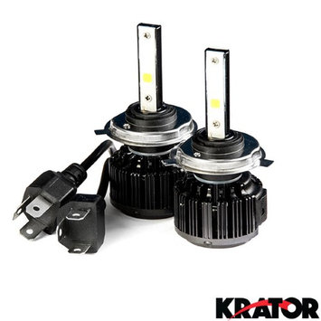 Krator LED H4 Headlight Conversion Bulbs 40W 4000LM Light Bulbs 9003/HB2 6000K White with Built-In Turbo Cooling Fan for 1999 Volkswagen Cabrio W/2 head lamps