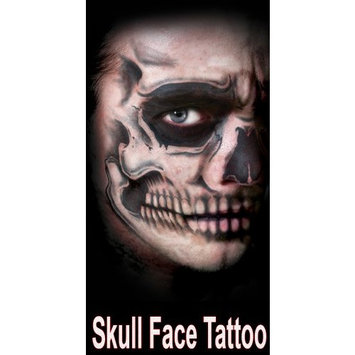 Skull Full Face Special Effects Face Temporary Tattoo