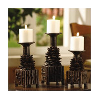 Crestview Collection Pinola Resin Candlesticks (Set of 3)